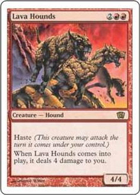 MtG 8th Edition Rare Lava Hounds #198
