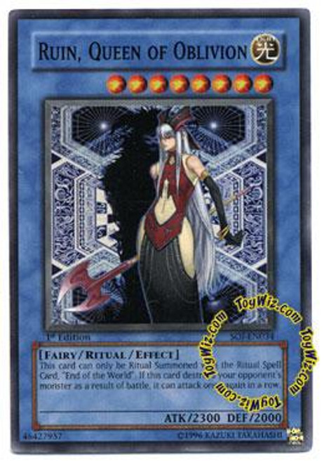 YuGiOh GX Shadow of Infinity Super Rare Ruin, Queen of Oblivion SOI-EN034