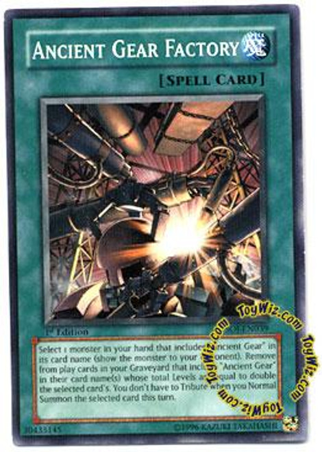 YuGiOh GX Shadow of Infinity Common Ancient Gear Factory SOI-EN039