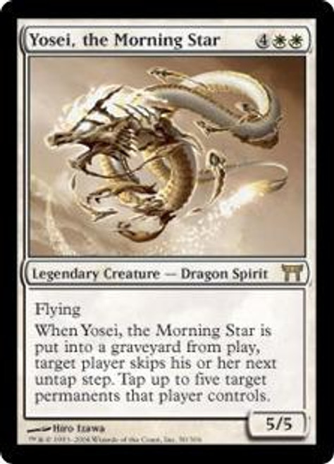 MtG Champions of Kamigawa Rare Yosei, the Morning Star #50