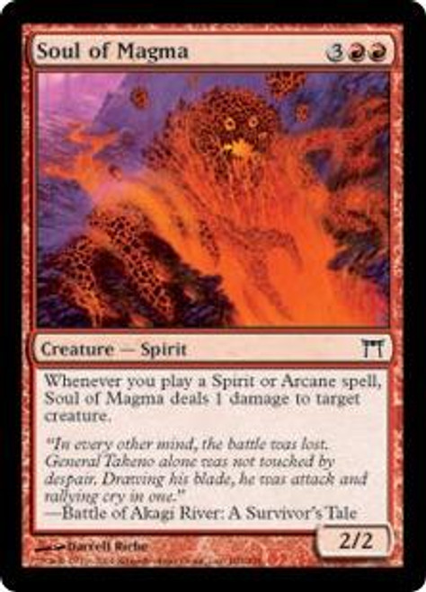 MtG Champions of Kamigawa Common Soul of Magma #189