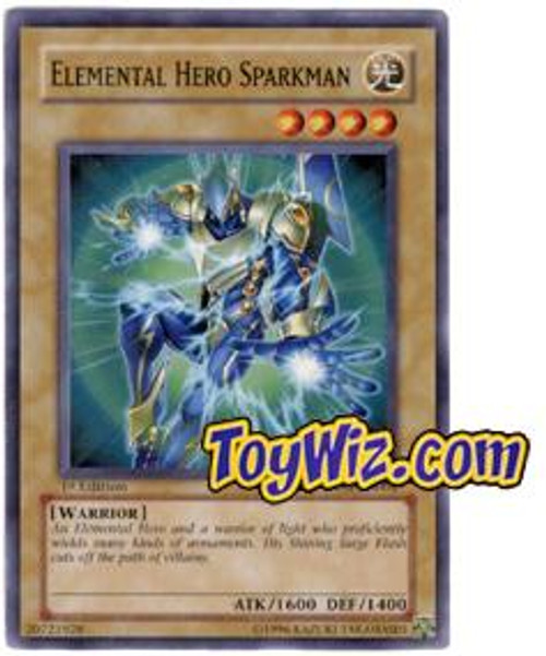 YuGiOh The Lost Millennium Common Elemental Hero Sparkman TLM-EN004