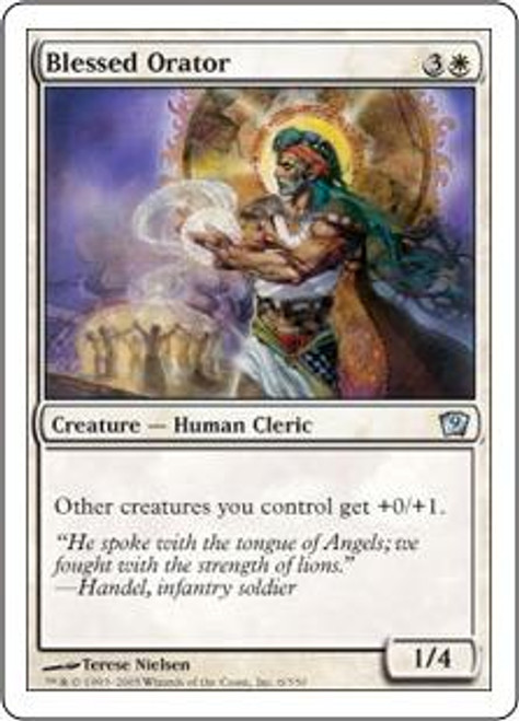 MtG 9th Edition Uncommon Blessed Orator #6