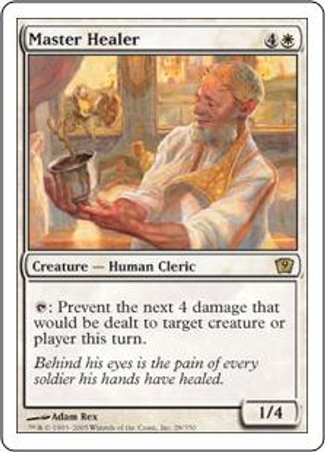 MtG 9th Edition Rare Master Healer #28