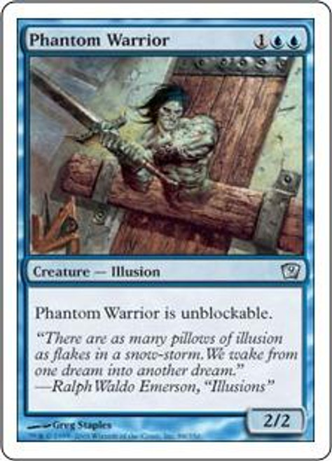 MtG 9th Edition Uncommon Phantom Warrior #88