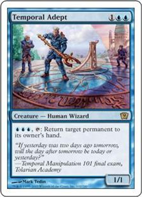 MtG 9th Edition Rare Temporal Adept #102