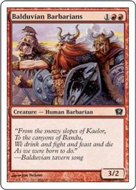 MtG 9th Edition Common Balduvian Barbarians #174