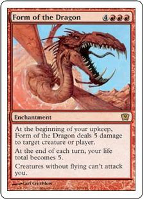 MtG 9th Edition Rare Form of the Dragon #187