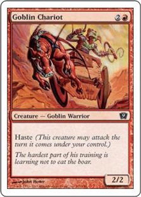 MtG 9th Edition Common Goblin Chariot #191