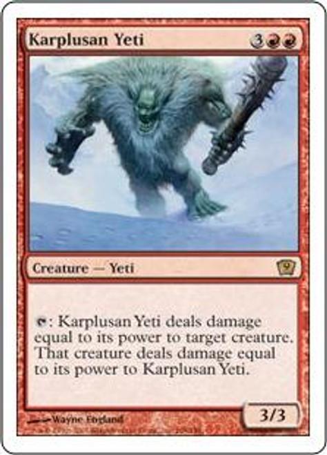 MtG 9th Edition Rare Karplusan Yeti #198