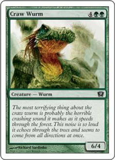 MtG 9th Edition Common Craw Wurm #233