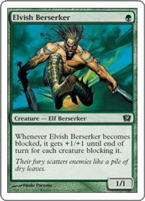 MtG 9th Edition Common Elvish Berserker #237