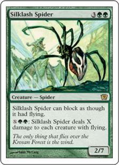 MtG 9th Edition Rare Silklash Spider #271