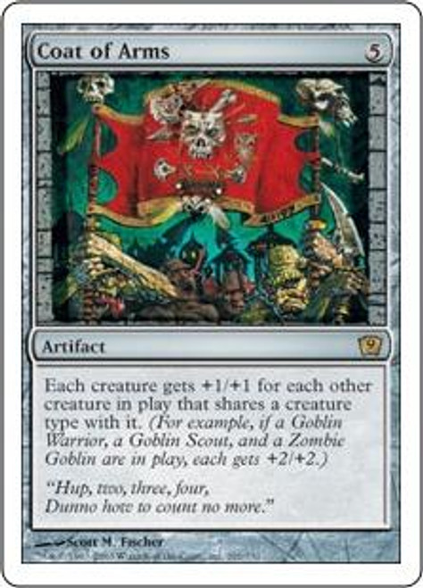 MtG 9th Edition Rare Coat of Arms #291