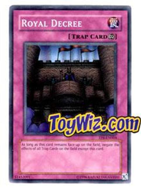 YuGiOh Tournament Pack 6 Super Rare Royal Decree TP6-EN004