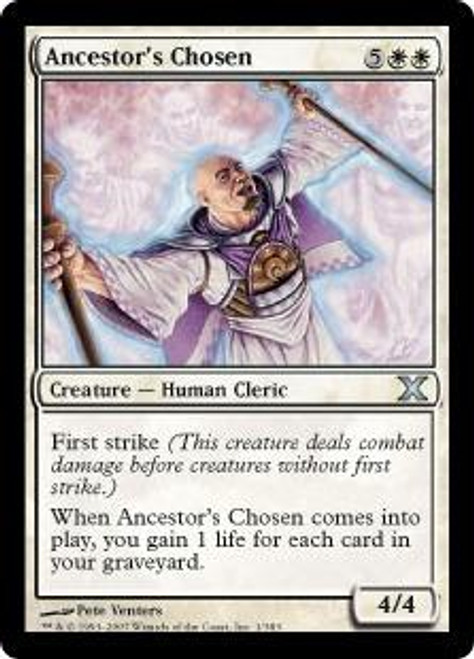 MtG 10th Edition Uncommon Ancestor's Chosen #1