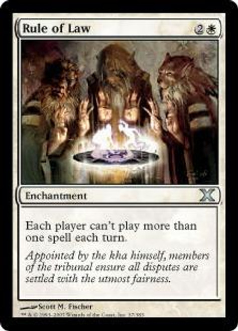 MtG 10th Edition Uncommon Rule of Law #37