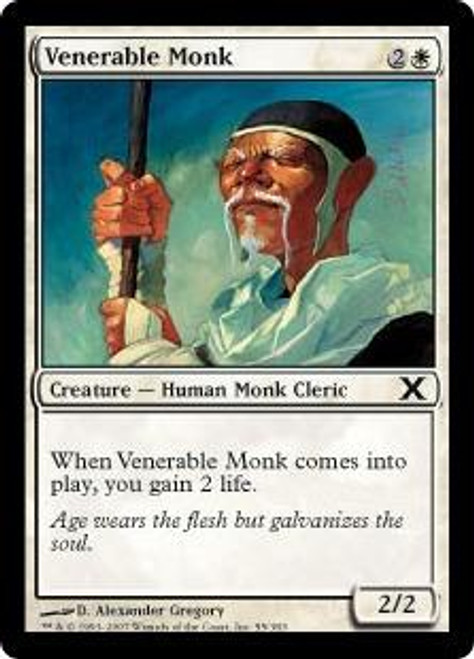MtG 10th Edition Common Venerable Monk #55