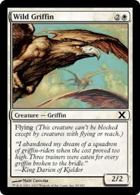 MtG 10th Edition Common Wild Griffin #59