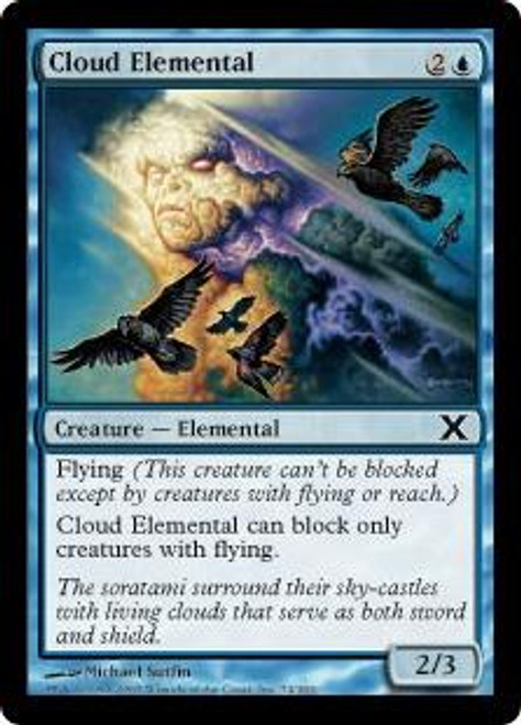 MtG 10th Edition Common Cloud Elemental #74