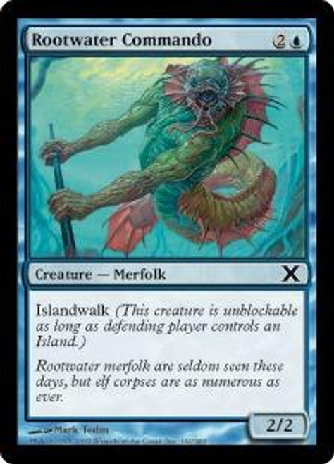 MtG 10th Edition Common Rootwater Commando #102