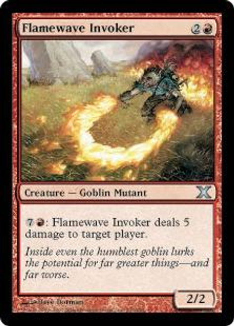 MtG 10th Edition Uncommon Flamewave Invoker #202
