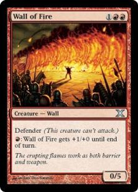 MtG 10th Edition Uncommon Wall of Fire #247
