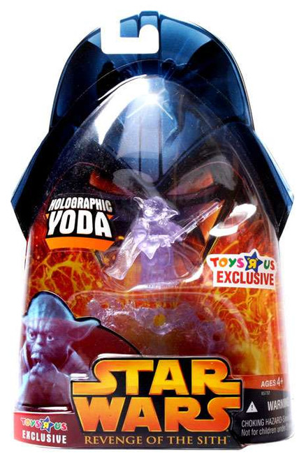 Star Wars Revenge of the Sith 2005 Holographic Yoda Exclusive Action Figure