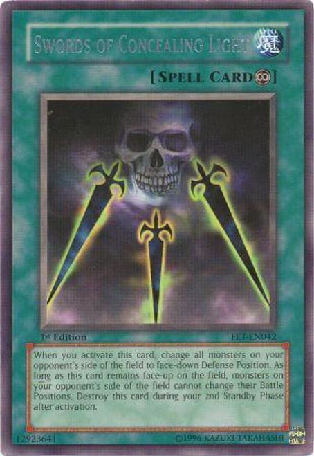 YuGiOh Flaming Eternity Rare Swords of Concealing Light FET-EN042