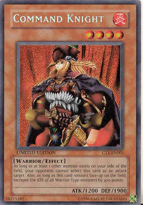 YuGiOh 2004 Collector Tin Secret Rare Command Knight CT1-EN003