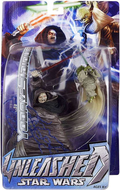 Star Wars Revenge of the Sith Unleashed Series 2 Emperor Palpatine vs. Yoda Action Figure 2-Pack