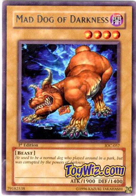 YuGiOh Invasion of Chaos Rare Mad Dog of Darkness IOC-057
