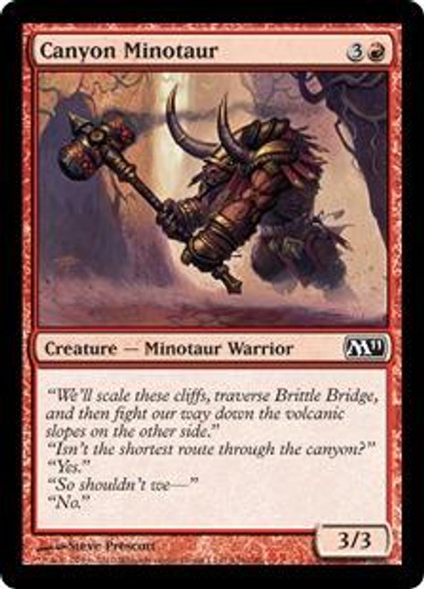 MtG Magic 2011 Common Canyon Minotaur #126