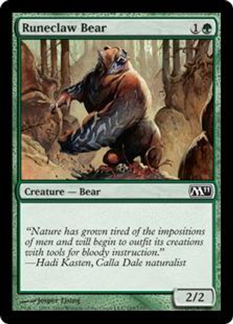 MtG Magic 2011 Common Runeclaw Bear #195