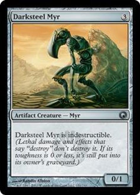 MtG Scars of Mirrodin Uncommon Darksteel Myr #151