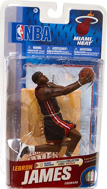 McFarlane Toys NBA Miami Heat Sports Picks Series 19 Lebron James Action Figure [Black Jersey]