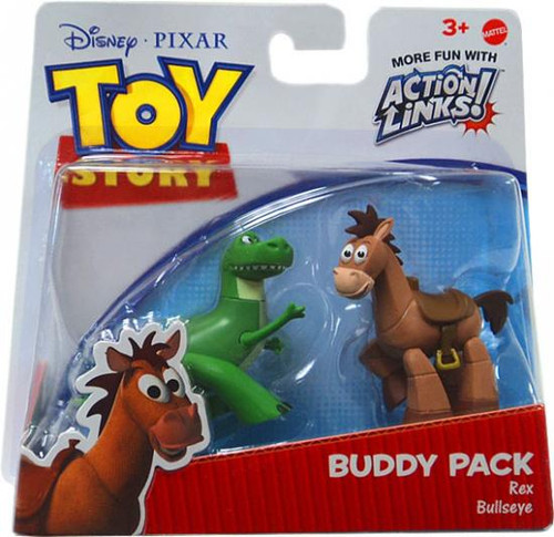 Toy Story Action Links Buddy Pack Rex & Bullseye Exclusive Mini Figure 2-Pack