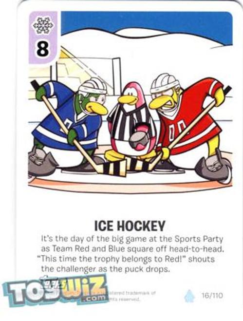 Club Penguin Card-Jitsu Basic Series 1 Common Ice Hockey #16