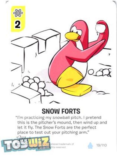Club Penguin Card-Jitsu Basic Series 1 Common Snow Forts #19