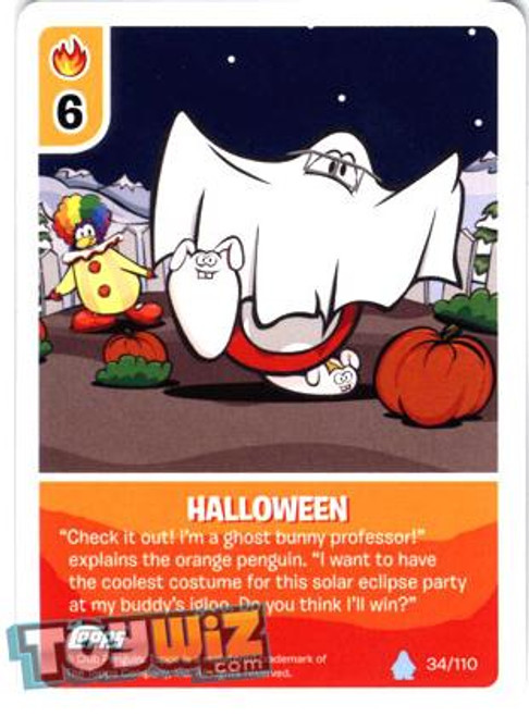 Club Penguin Card-Jitsu Basic Series 1 Common Halloween #34