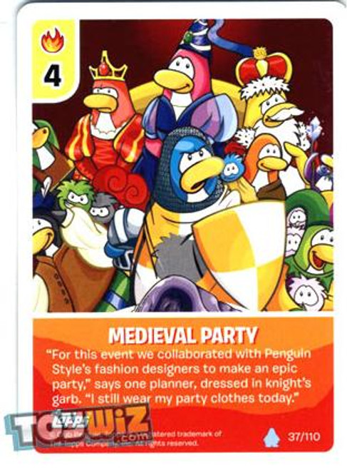 Club Penguin Card-Jitsu Basic Series 1 Common Medieval Party #37