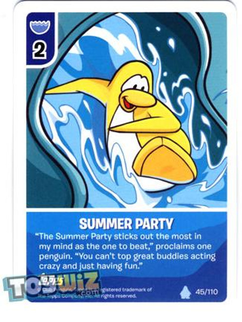 Club Penguin Card-Jitsu Basic Series 1 Common Summer Party #45