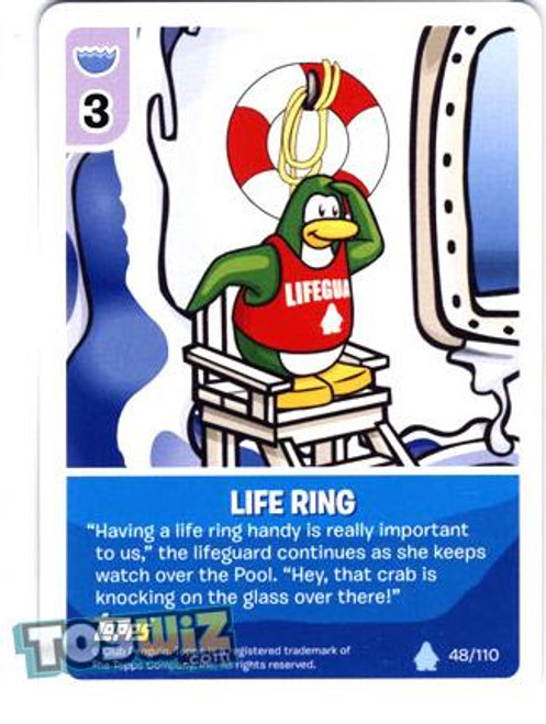 Club Penguin Card-Jitsu Basic Series 1 Common Life Ring #48