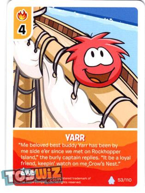 Club Penguin Card-Jitsu Basic Series 1 Common Yarr #53