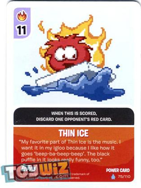 Club Penguin Card-Jitsu Basic Series 1 Foil Power Card Thin Ice #75