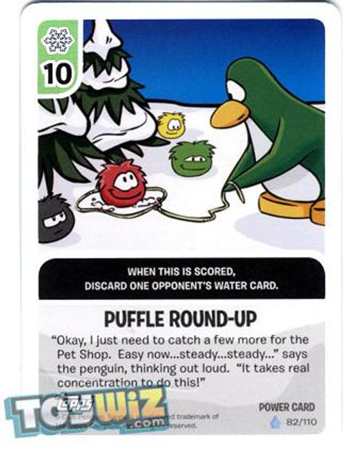 Club Penguin Card-Jitsu Basic Series 1 Foil Power Card Puffle Round-up #82