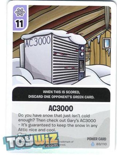 Club Penguin Card-Jitsu Basic Series 1 Foil Power Card AC3000 #83