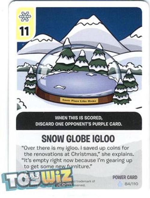 Club Penguin Card-Jitsu Basic Series 1 Foil Power Card Snow Globe Igloo #84