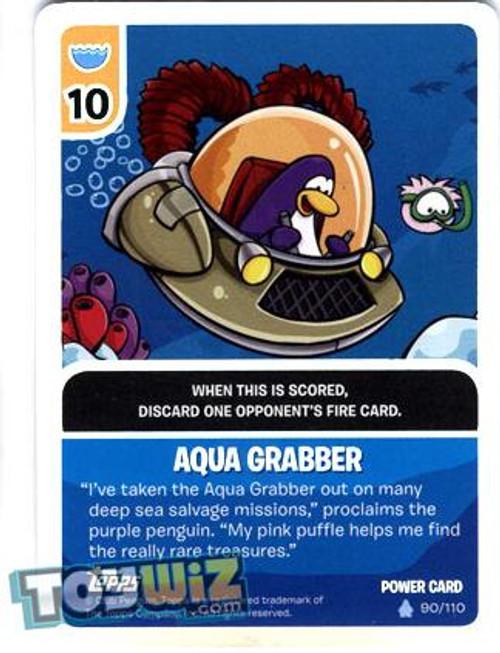 Club Penguin Card-Jitsu Basic Series 1 Foil Power Card Aqua Grabber #90