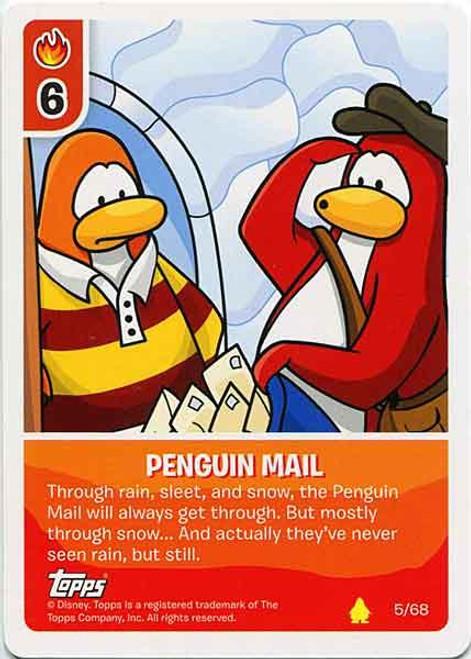 Club Penguin Card-Jitsu Basic Series 2 Common Penguin Mail #5